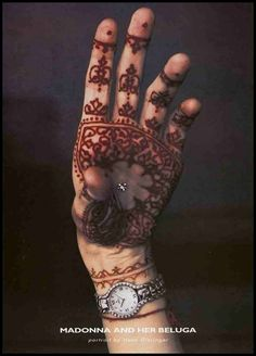 Madonna's hand in the Ebel Watch campaign. 1998