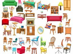 A Variety Of Furniture Clip Art Free Vector In Encapsulated throughout Furniture Clipart 35432 Cartoon Background, Icon Collection, Lol Dolls, Cartoon Drawings, Kawaii Drawings, Games For Kids, Washi, Paper Dolls, Graphic Art
