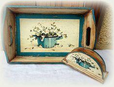 agir / Tácka+stojan Tray, Handmade, Vintage, Home Decor, Hand Made, Decoration Home, Room Decor, Trays, Vintage Comics