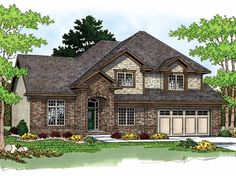 Eplans New American House Plan - Flawless Style - 2420 Square Feet and 4 Bedrooms(s) from Eplans - House Plan Code HWEPL09935