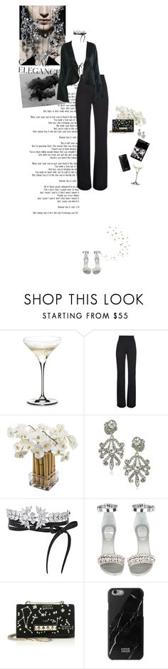 """""""If all else perished, and he remained, I should still continue to be"""" by blissful-ignorance ❤ liked on Polyvore featuring Armani Privé, Riedel, Derek Lam, Sia, ABS by Allen Schwartz, Fallon, Givenchy, Valentino and Native Union"""