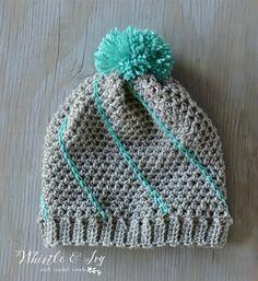 Diagonal Hatch Slouchy Hat Crochet Pattern (FREE)