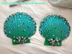 Custom Mermaid Shell Bra from Pretty Girl Dancewear