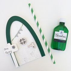 Let a little magic into your home with our fairy doors for grown ups! Is gin your tipple of choice? Then why not invite your very own gin fairy into your kitchen and shell surely come and visit when a G&T is in need! Handmade from sustainably sourced plywood painted white with silver glitter and decorated with sparkly bunting, a little window, door handle and silver star. Put your door on a skirting board, wall or even on a shelf (because fairies can fly of course!) The signpost can be pe... Gifts For Gin Lovers, Gift For Lover, Silver Stars, Silver Glitter, Invite, Invitations, Skirting Boards, Quirky Gifts, Fairy Doors