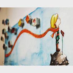 """""""Albüm kapağı olursa buu güzel olur evet evet :) #illustration #illüstrasyon #suluboya #watercolor #brushpen #copic #littleprince #kucukprens #küçükprens…"""""""