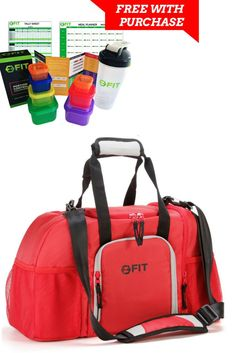 LIMITED TIME OFFER! ONLY 25 AVAILABLE - Meal prep bag - Cooler for Fitness, Meal Prep, Picnic, PLUS FREE Portion Control Containers Set