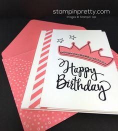 Stampin Up Wish Big Biggest Birthday Ever Card & Envelope - Mary Fish StampinUp
