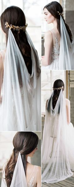 Top 20 Wedding Hairstyles with Veils and Accessories - Ahh - Bridal Array for a romantic wedding in spring - Frühlingshochzeit - Boda Veil Hairstyles, Wedding Hairstyles With Veil, Trendy Hairstyles, Wedding Hairstyles Veil, Bride Hair With Veil, Bride Veil, Fantasy Hairstyles, Short Haircuts, Vintage Hairstyles