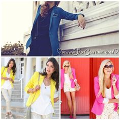 Fall Trend 2013: Candy Colored coats, where to find them and how to wear them.. http://jaxcouture.wordpress.com/2013/08/18/fashion-fyi-candy-coated-jackets/