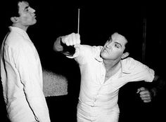 Alejandro Rey and Elvis Presley for Fun in Acapulco, 1963, directed by Richard Thorpe.