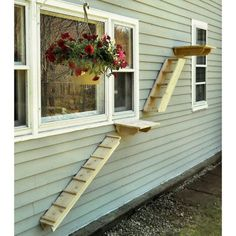 Outdoor Cedar Cat Wall System: 44 Inch Ramp - CatsPlay Superstore - Without The Nasty Stuff - Outdoor Cedar Cat Wall System: 44 Inch Ramp - CatsPlay Superstore Outdoor Cedar Cat Wall System: 44 Inch Ramp -