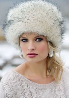 Arctic Fox Faux Fur Russian Hat $59 want so badly!!