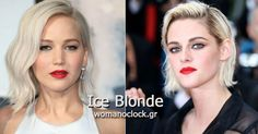 Stars including Kristen Stewart, Jennifer Lawrence, and Taylor Swift have all cropped their hair into icy blonde bobs recently — and if three's truly a trend, this is definitely the one we're anticipating seeing everywhere this summer. Blond Ombre, Blonde Balayage, Blonde Highlights, Icy Blonde, Platinum Blonde Bobs, Platinum Hair Color, Blonder Bob, Best Wigs, Thing 1