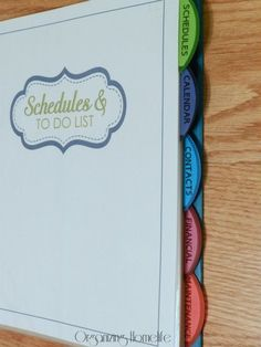 Great printables and binder tab tip- 31 Days of Home Management Binder Printables