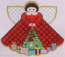 Painted Pony Designs Under the Tree Angel 996HU HP Needlepoint Canvas & Guide