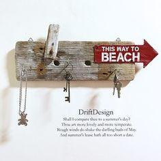 ~Drift Design~ 流木板のお洒落なキーフック カリフォルニアスタイル インテリア