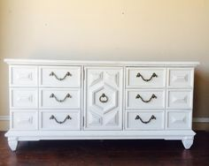 DIY Chalk Paint Refinished Distressed Brenda Marie Designs Thomasville thrift store find