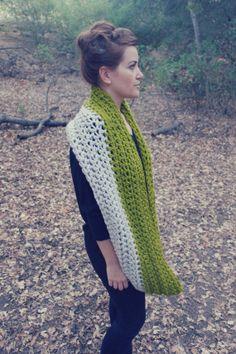 Oversized // Two Tone // Crocheted Circle Scarf by KatrinaBadina, $50.00