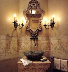 Elegant French powder room