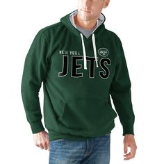New York Jets G-III Sports by Carl Banks All-Star Pullover Hoodie - Green - $43.99