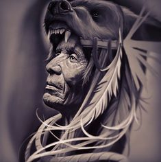 Coloring for adults - kleuren voor volwassenen tattoo ideas Native American Drawing, Native American Tattoos, Native Tattoos, Native American Pictures, American Indian Art, American Indians, Body Art Tattoos, Sleeve Tattoos, Kopf Tattoo
