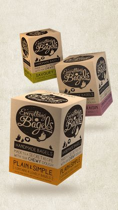 Everything Bagels packaging by Design Happy UK - and Oh darn that's cute!