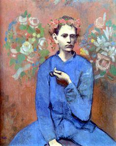 pablo picasso, garçon à la pipe, période rose, 1905