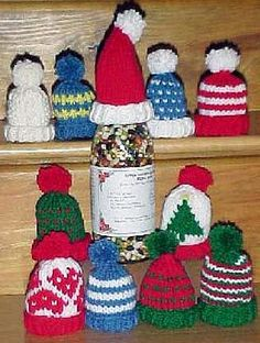 Free Knitting Patterns - Miniature Hat Ornaments for Christmas
