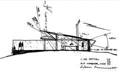 Glenn Murcutt, le fonctionnalisme écologique - p Sketch A Day, Hand Sketch, Architecture Concept Drawings, Architecture Details, Illustration Sketches, Illustrations, Conceptual Sketches, Architect Drawing, Single Line Drawing