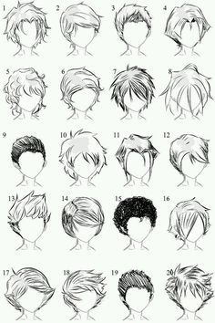 Manga Drawing Techniques helpyoudraw: 50 Male Hairstyles - Revamped by OrangeNuke 20 Male Hairstyles by Male hair and lighting by 20 More Male Hairstyles by LazyCatSleepsDaily Men's Hair - Set 9 by dark-sheikah - Drawing Techniques, Drawing Tips, Drawing Sketches, Drawing Ideas, Hair Styles Drawing, Boy Hair Drawing, Short Hair Drawing, Drawing Drawing, Hair Styles Anime