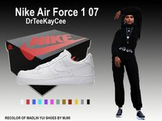 This is item of a 3 piece set. The popular Nike Air Force 1 edition will surely have your sims floating! Keep your Sims looking fresh and get the set! Found in TSR Category 'Sims 4 Shoes Female' Nike Sb, Nike Air Max, Nike Air Force 1, The Sims 4 Pc, My Sims, Sims Cc, Sims 4 Mods Clothes, Sims 4 Clothing, Game Clothing