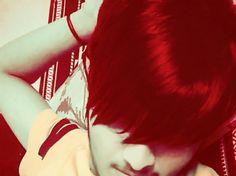 Cute emo boy #emo #haiir red hairs sweet top emo