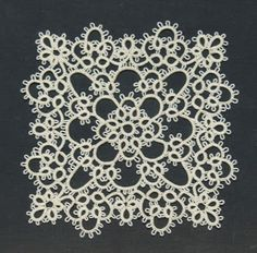 Square doily Norma Benporath Every Woman's Complete guide to Tatting