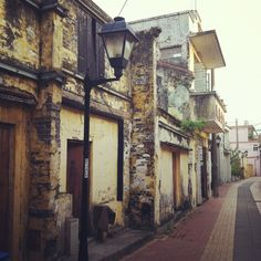 The old Portuguese part of Macau.