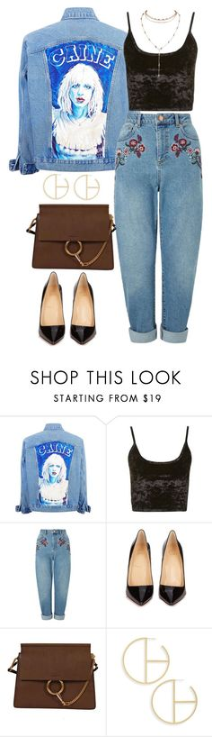 """""""Untitled #373"""" by froyalbiatsii ❤ liked on Polyvore featuring Topshop, Miss Selfridge, Christian Louboutin, Chloé and Madewell"""