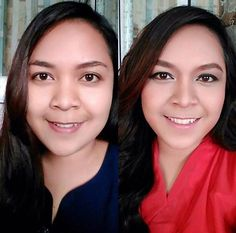 #before #after #makeup #natural #nofilter #wedding #weddingmakeup #graduation #weddinginspiration #contour #curly #corsage #blushon #eyeshadow #mua #muajakarta #vintage #redlips #makeup