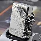 Japanese Design Harley Davidson Eagle Style Flames Zippo Lighter
