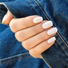 French - paznokcie hybrydowe z kolorową końcówką!