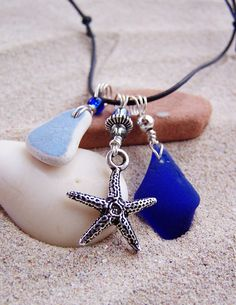 Sea Glass Necklace  Treasures from the Sea by SilverBeachSeaGlass, $39.00
