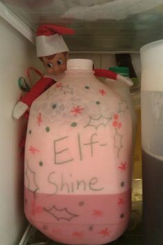 Elf on a Shelf - Brought a North Pole favorite: Elf Shine (red milk)