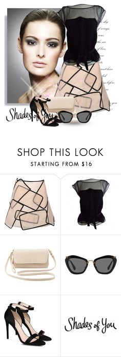 """""""Shades of You: Sunglass Hut Contest Entry"""" by andrejae ❤ liked on Polyvore featuring Louis Vuitton, Charlotte Russe, Miu Miu, STELLA McCARTNEY and shadesofyou"""