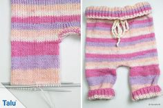 Babyhose stricken – kostenlose Anleitung für Anfänger in allen Größen In this free tutorial, Talu reveals how to knit baby pants. The instruction with size chart shows each step in detail on pictures and is therefore ideally suited for beginners. Knitting Websites, Knitting Blogs, Easy Knitting, Knit Baby Pants, Baby Vest, Baby Knitting Patterns, Crochet Patterns, Crochet Pullover Pattern, Knitted Hats Kids