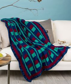 Luxurious Comfort Throw Free Crochet Pattern in Red Heart With Love Yarn