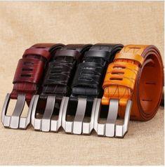best website 91842 d56aa Men s Geometric Pattern Leather Belt Price   20.78   FREE Shipping   Bracelets Cinturones, Cinturón