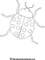 eric carle coloring pages grouchy ladybug coloring | Cute Ladybug Coloring Pages - free printable ladybug ...