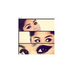 Thick Eyeliner ❤ liked on Polyvore featuring beauty products, makeup, eye makeup and eyeliner