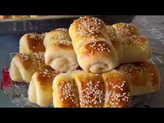 Brze kifle mekane kao pamuk - YouTube Croatian Kifle Recipe, Brze Torte, Kiflice Recipe, Bread Dough Recipe, Macedonian Food, Croatian Recipes, English Food, Greek Recipes, Hot Dog Buns