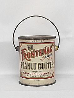 Frontenac Peanut Butter Tin or Pail