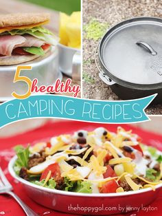 If you're planning a camping trip this summer, you've got to check out this post. So many great lunch and dinner ideas that are easy and healthy! #camping #summer #healthy #dutchoven