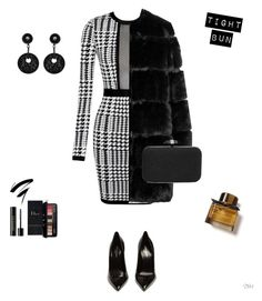 """""""Untitled #83"""" by apwbd ❤ liked on Polyvore featuring Yves Saint Laurent, Givenchy, INC International Concepts, Giorgio Armani, Lancôme, Estée Lauder and Burberry"""
